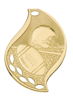 FOOTBALL FLAME SPORT MEDAL