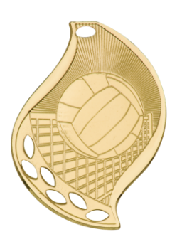VOLLEYBALL FLAME SPORT MEDAL