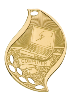 COMPUTER ACADEMIC FLAME MEDAL