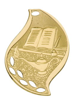 LAMP OF KNOWLEDGE ACADEMIC FLAME MEDAL