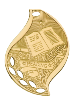 READING ACADEMIC FLAME MEDAL