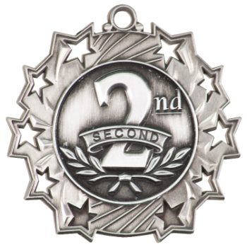 2ND PLACE TEN STAR MEDAL