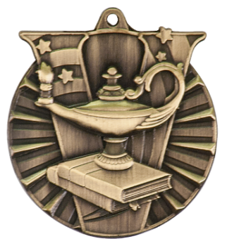 LAMP OF KNOWLEDGE VICTORY ACADEMIC MEDAL