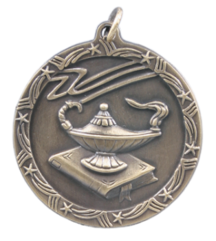 LAMP OF KNOWLEDGE SHOOTING STAR MEDAL