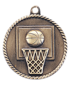 BASKETBALL HIGH RELIEF MEDAL