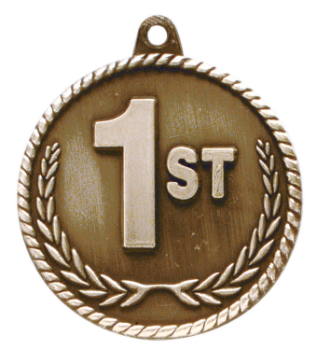 1ST PLACE HIGH RELIEF MEDAL