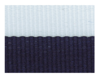 NAVY BLUE/WHITE NECK RIBBON WITH SNAP CLIP