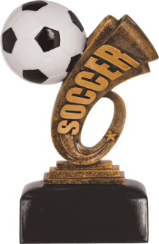 Soccer Headline Resin Award
