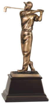 Bronze Male Golfer Resin Award