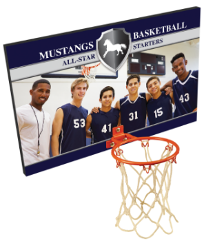 Small Custom Color Basketball Hoop Plaque