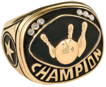Gold Bowling Champion Ring