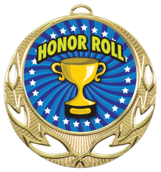 Full Color Honor Roll Medal