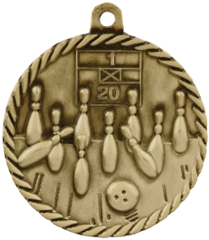 Bowling High Relief Medal