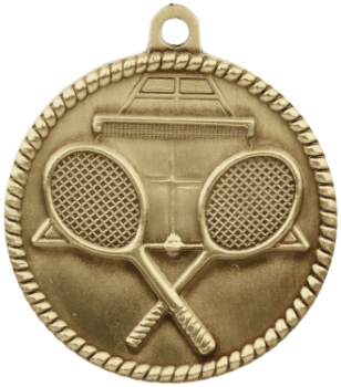 Tennis High Relief Medal