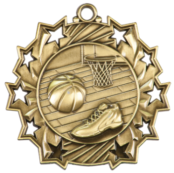 Basketball Ten Star Medal