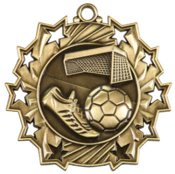 Soccer Ten Star Medal