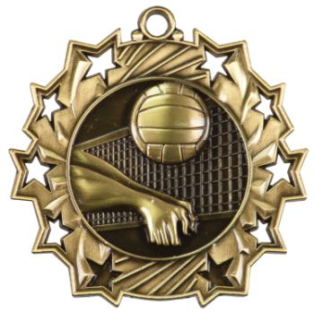 Volleyball Ten Star Medal