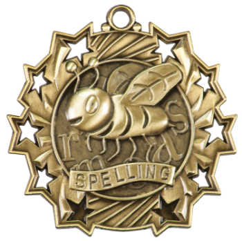 Spelling Ten Star Medal