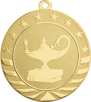 Lamp of Knowledge Starbrite Medal