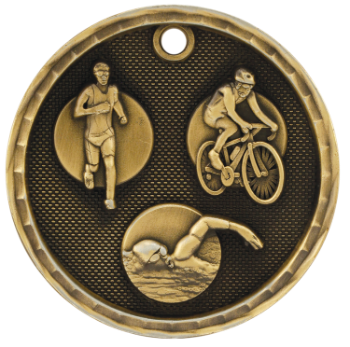 Triathlon 3D Medal