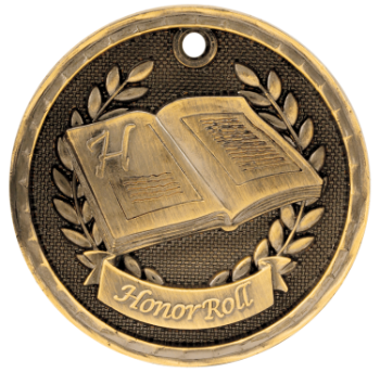 Honor Roll 3D Medal