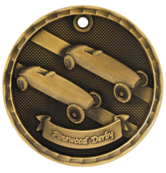 Pinewood Derby 3D Medal