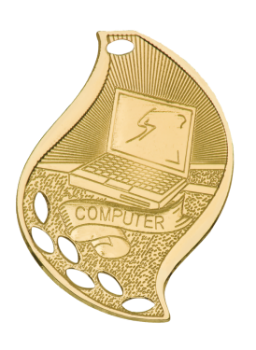 Computer Flame Medal