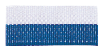 Blue/White Neck Ribbon With Snap Clip